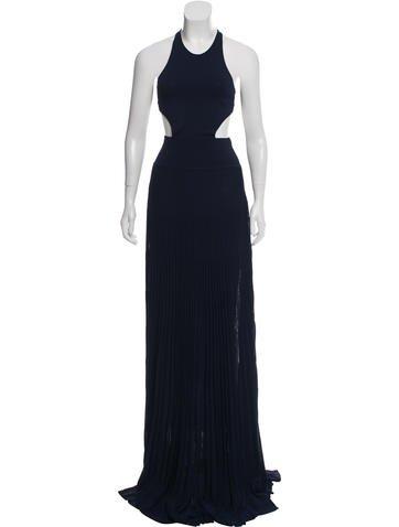 Ralph Lauren Purple Label Open-Back Pleated Dress None