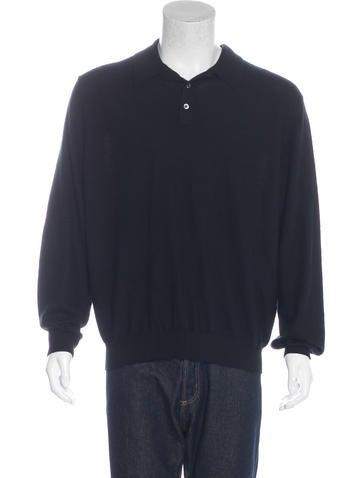 Ralph Lauren Purple Label Cashmere Polo Sweater None