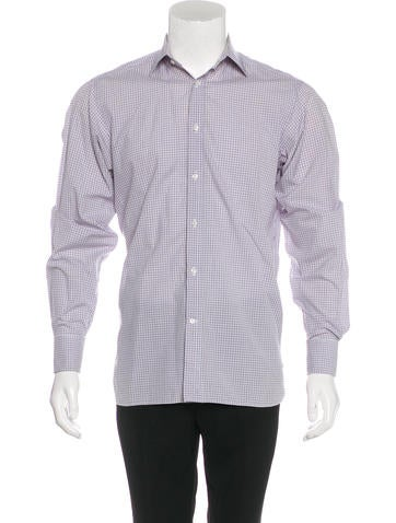 Ralph lauren purple label plaid french cuff shirt for Purple french cuff dress shirt