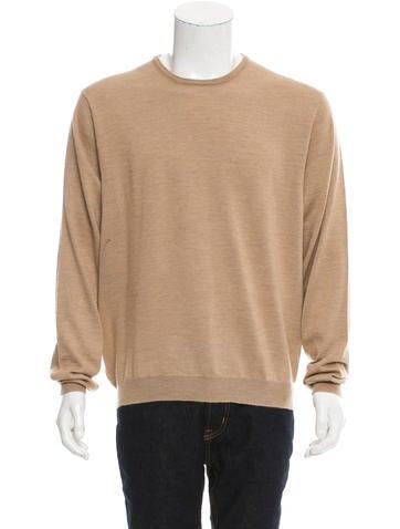 Ralph Lauren Purple Label Virgin Wool Crew Neck Sweater None