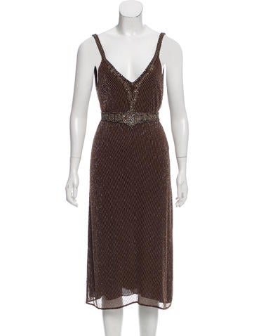 Ralph Lauren Purple Label Silk Beaded Dress None