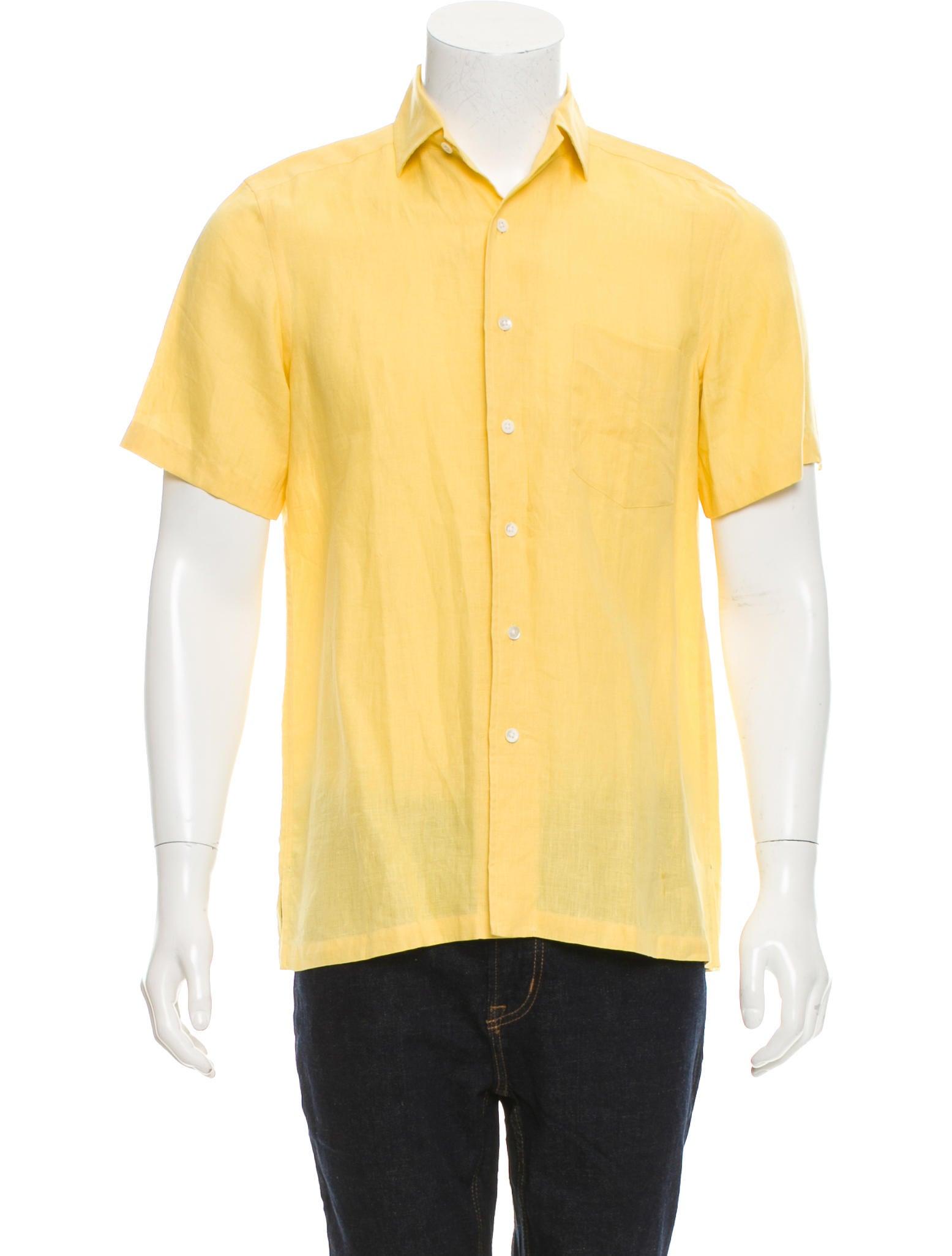Ralph lauren purple label short sleeve linen shirt for Short sleeve linen shirt
