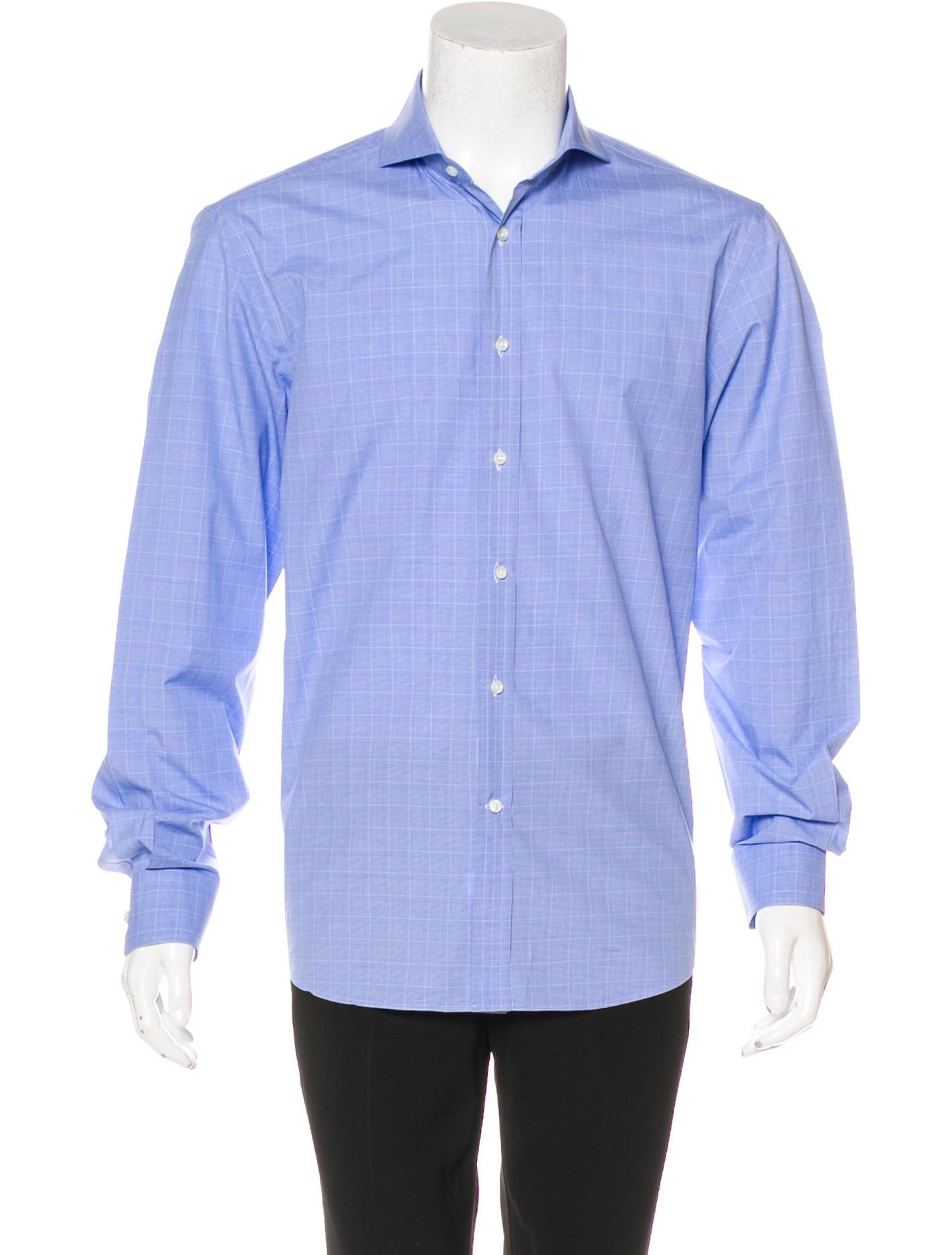 Ralph lauren purple label glen plaid button up shirt for Purple plaid button up shirt