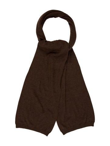 Ralph Lauren Purple Label Brown Knit Scarf None