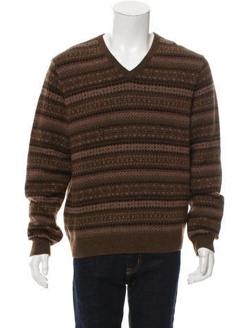 Ralph Lauren Purple Label Fair Isle Casmere-Blend Sweater w/ Tags None