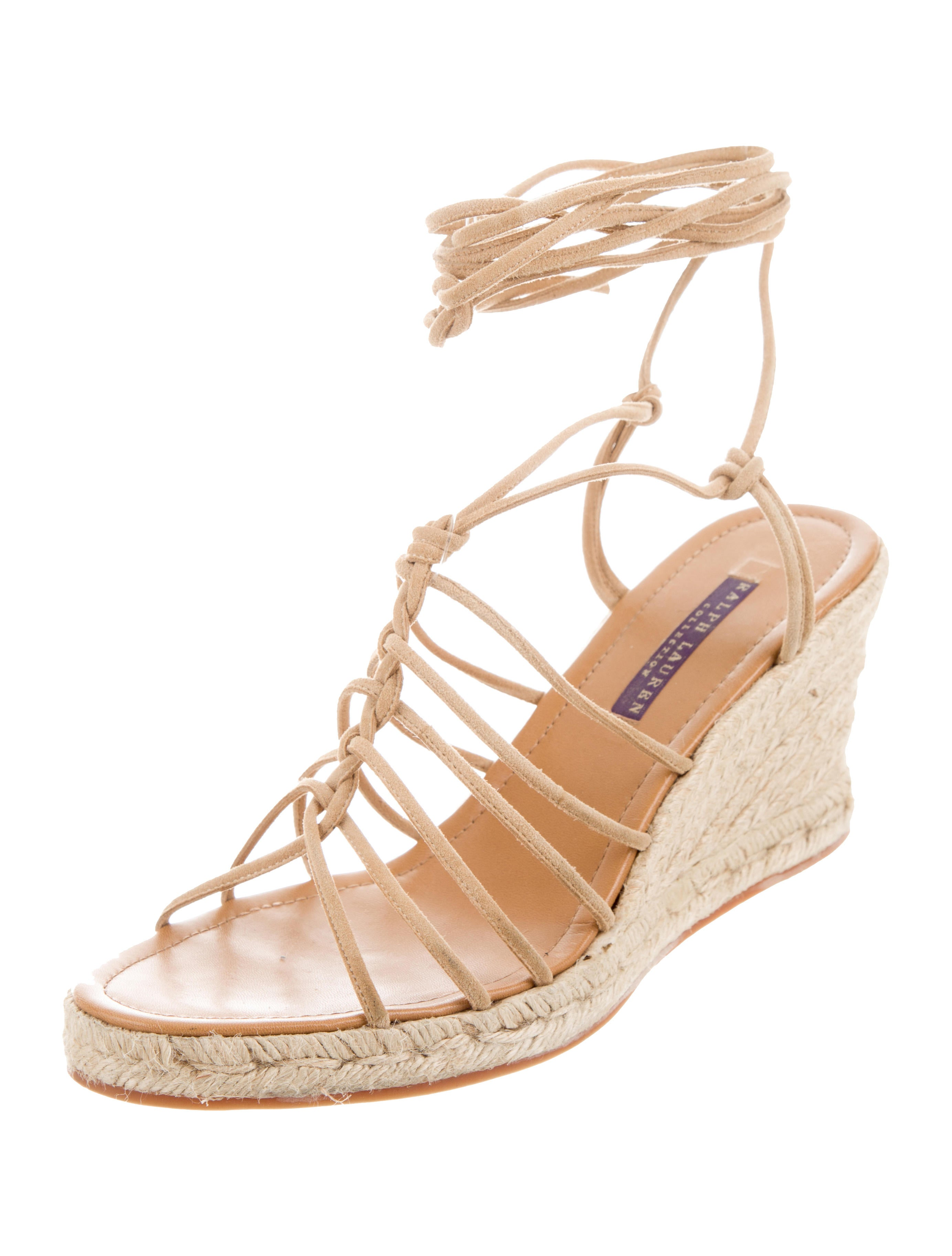 ralph lauren purple label espadrille wedge sandals shoes rlpl22124 the realreal. Black Bedroom Furniture Sets. Home Design Ideas