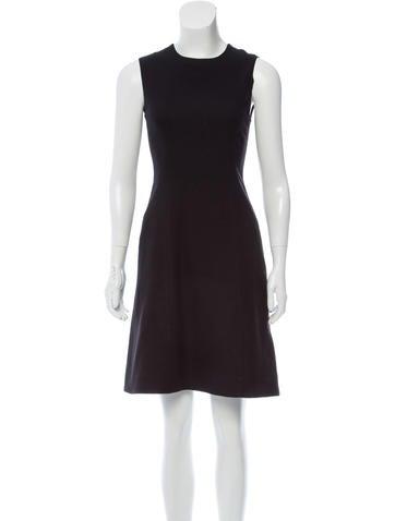 Ralph Lauren Purple Label Metallic Wool Dress None