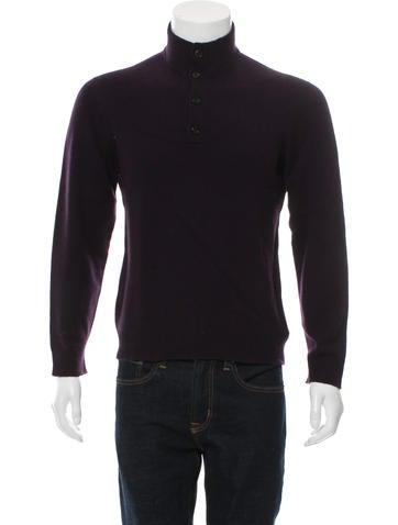 Ralph Lauren Purple Label Cashmere Mock Neck Sweater None