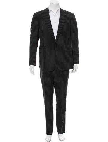 Ralph Lauren Purple Label Wool Stripe Two-Piece Suit None