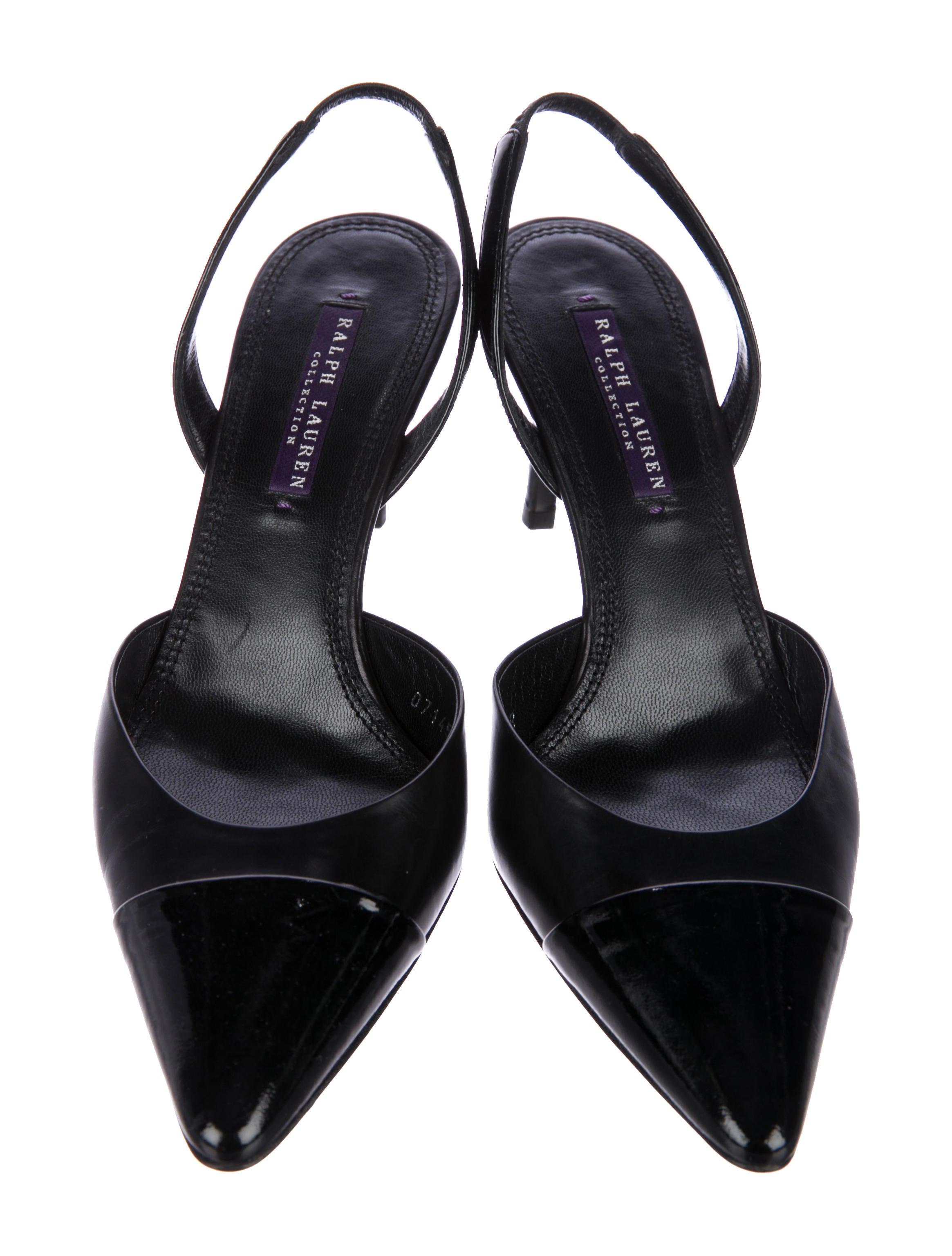 Ralph Lauren Purple Label Cap-Toe Slingback Pumps pictures cheap price explore outlet discount ebay MGUSdyjR
