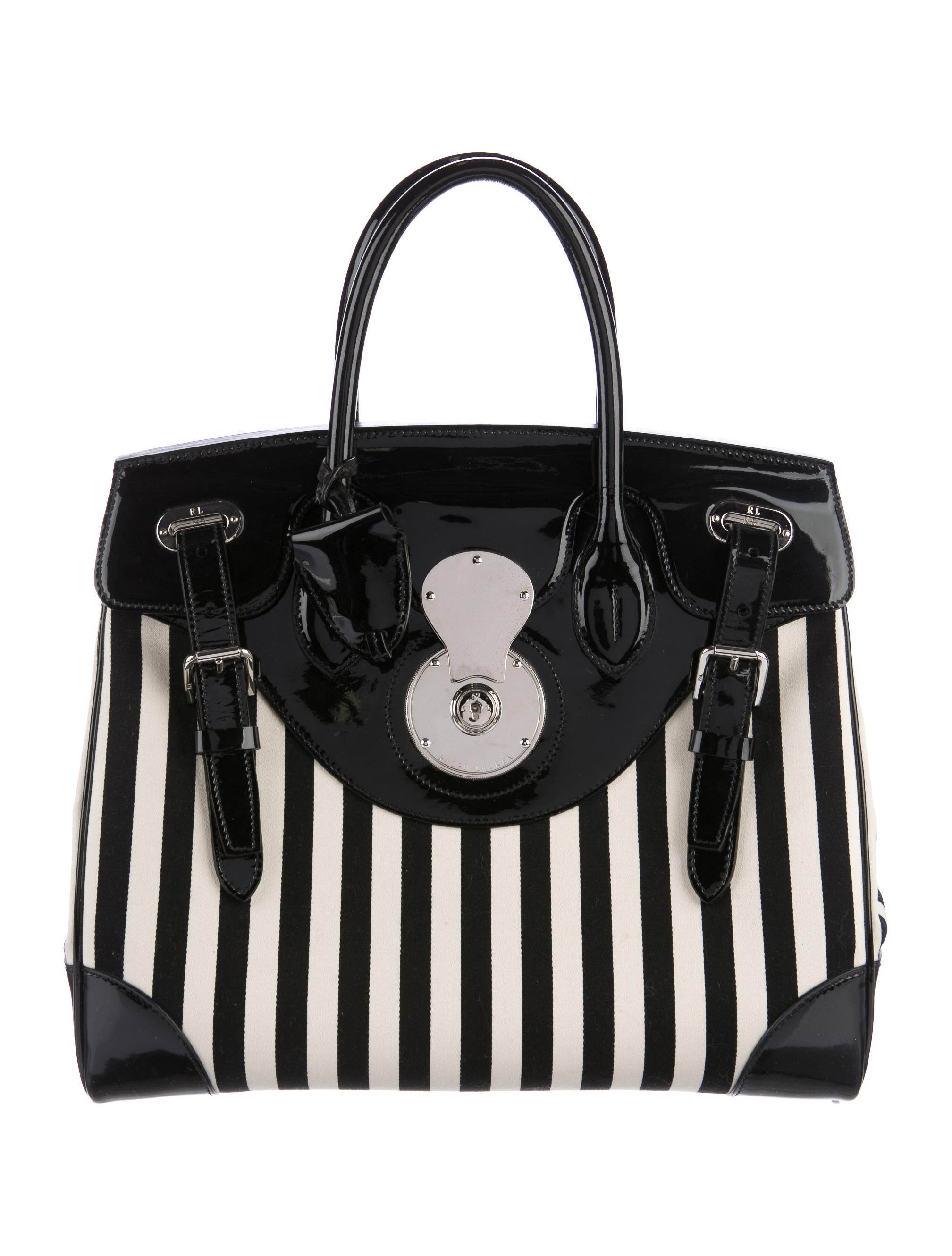 Ricky Patent Leather Canvas Bag