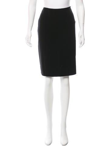 Ralph Lauren Purple Label Wool Knee-Length Skirt None