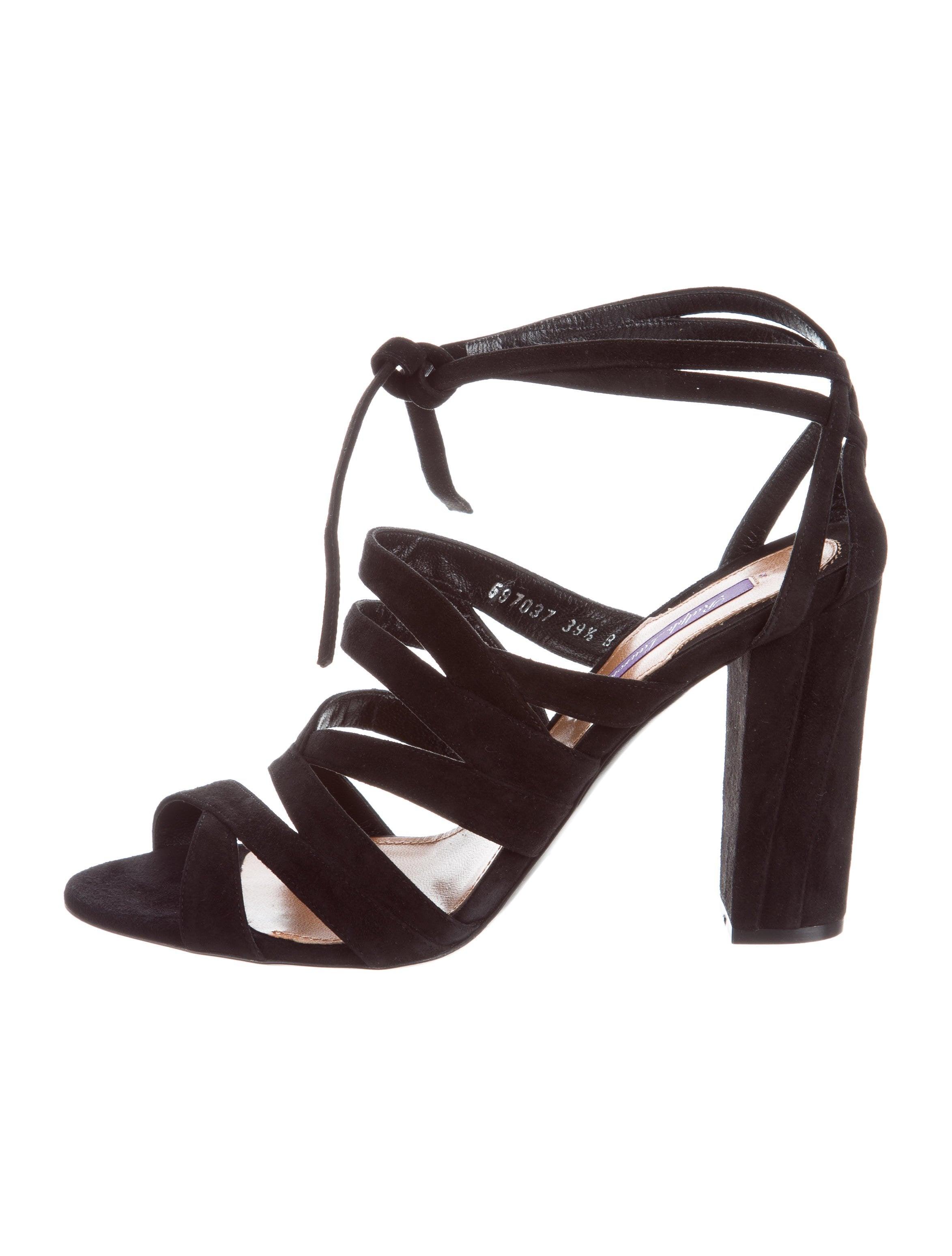 ebay online sale professional Ralph Lauren Purple Label Lauralei Suede Sandals w/ Tags discounts sale online cheap discount clearance authentic WAZpqP0vP3
