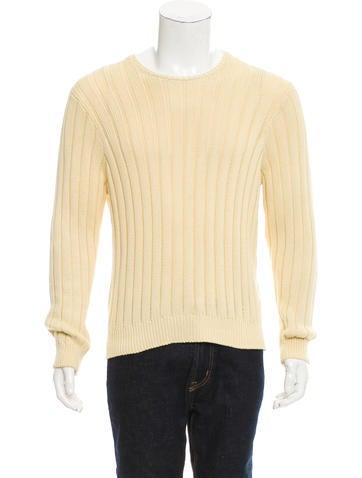 Ralph Lauren Purple Label Rib Knit Crew Neck Sweater None