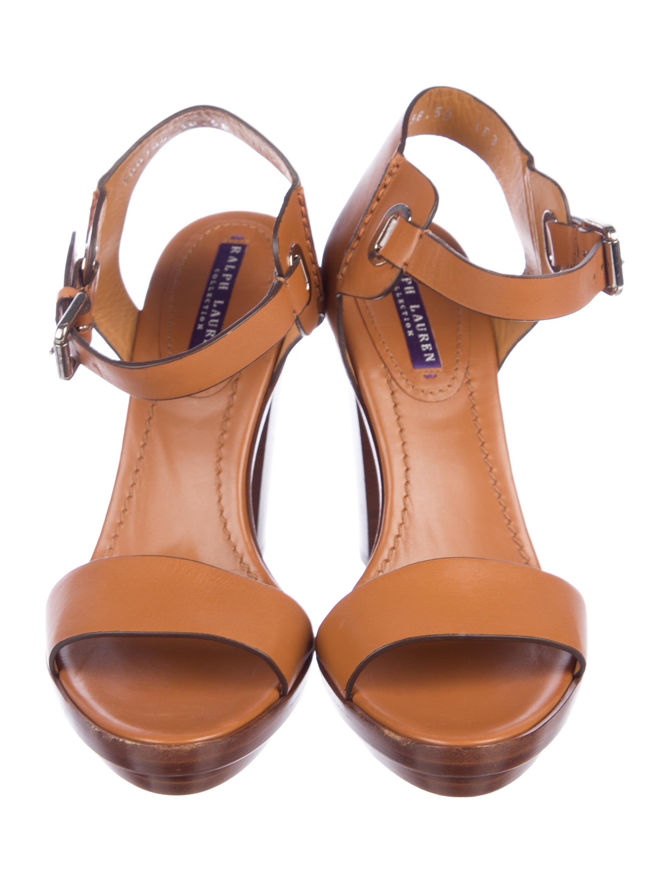 Ralph Lauren Purple Label Leather Platform Sandals new sale online j8F9anF