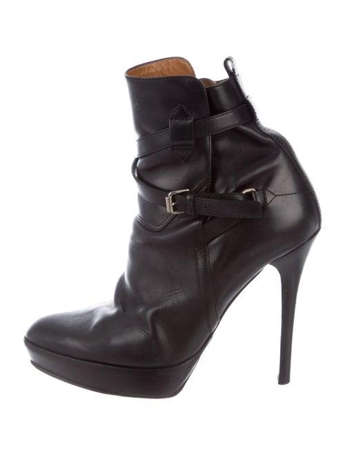Ralph Lauren Purple Label Leather Boots Purple