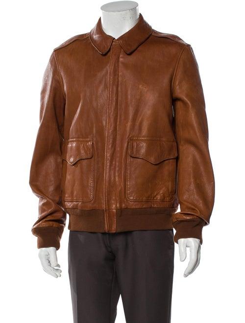Ralph Lauren Purple Label Leather Bomber Jacket Pu