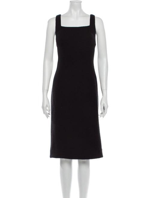 Ralph Lauren Purple Label Wool Midi Length Dress P