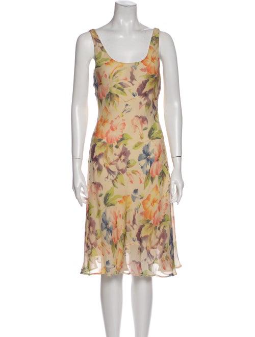 Ralph Lauren Purple Label Silk Midi Length Dress P