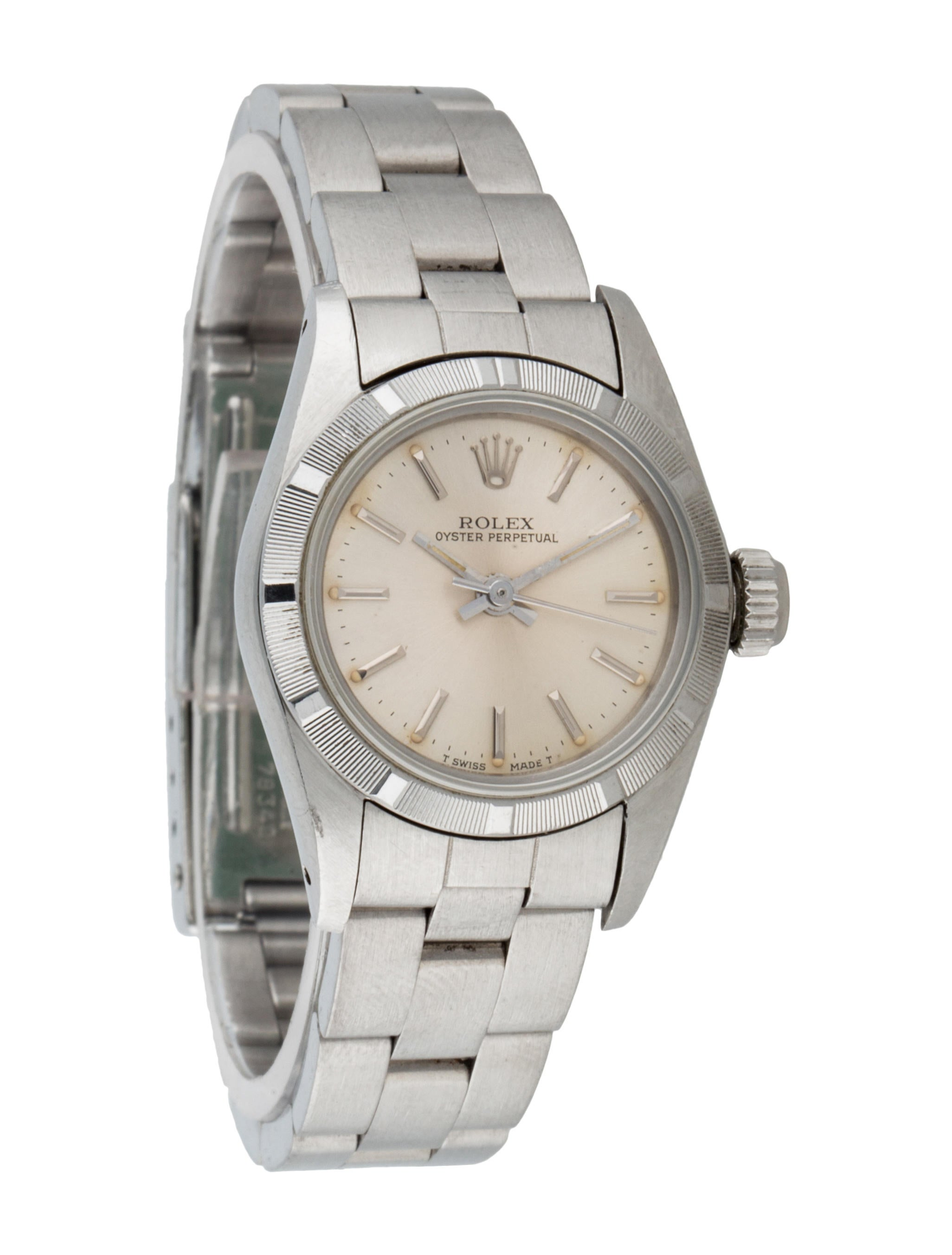 Rolex oyster perpetual watch bracelet rlx21144 the realreal for Oyster watches
