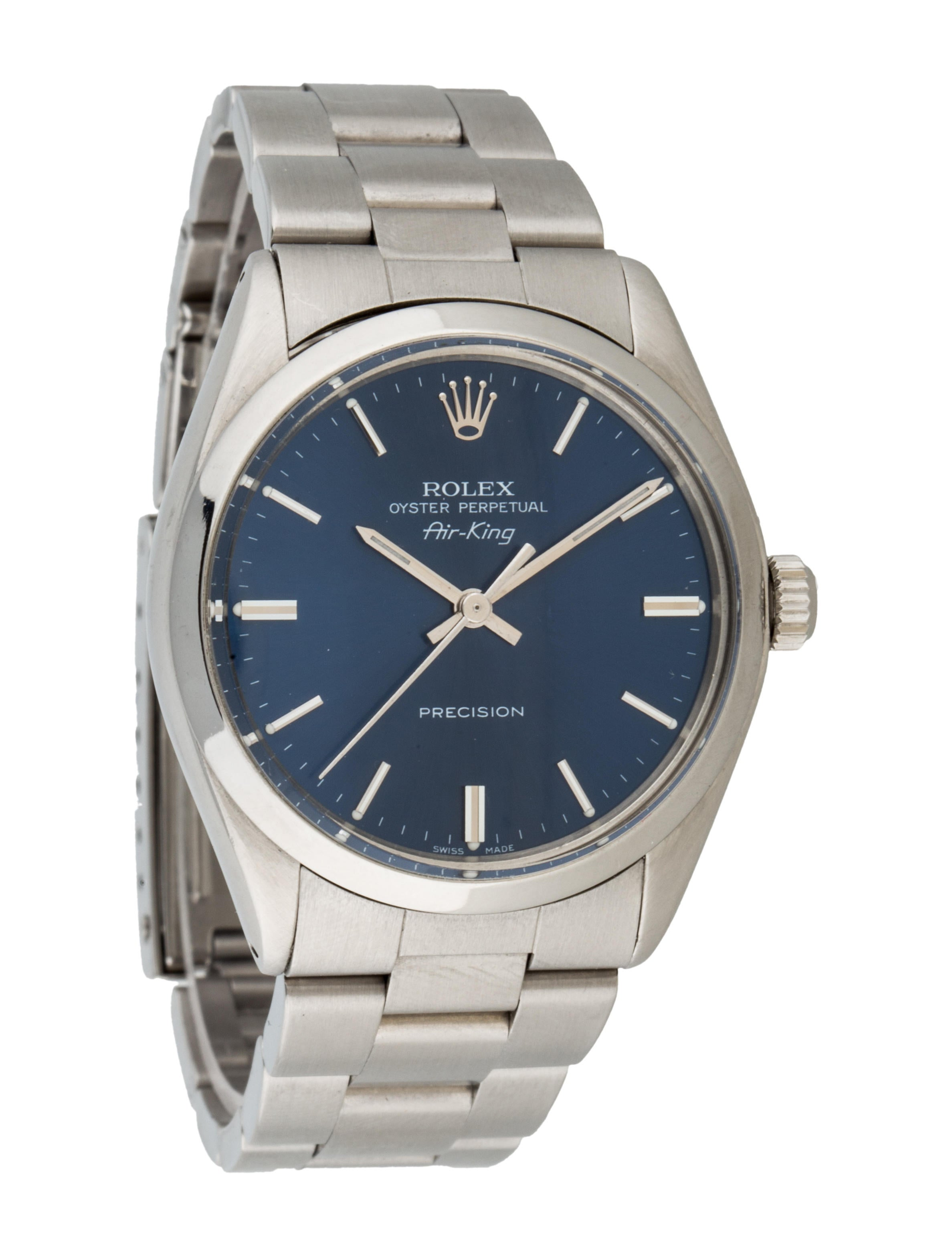 Rolex oyster perpetual air king watch bracelet rlx21385 the realreal for Oyster watches