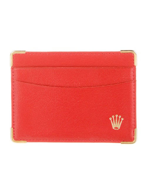 Rolex Leather Cardholder red