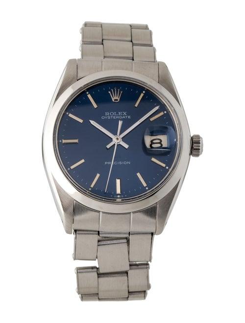 Rolex Oysterdate Watch Blue