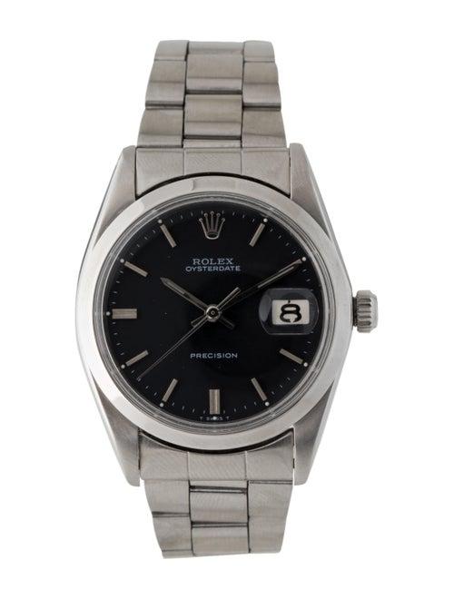 Rolex Oysterdate Watch Black