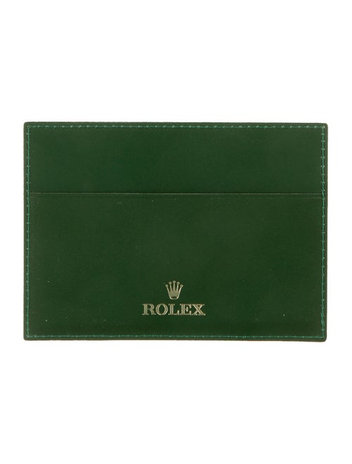 Rolex Leather Cardholder green