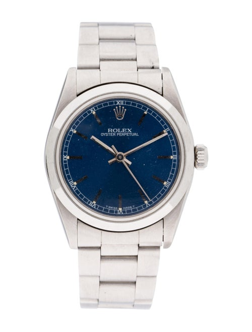 Rolex Oyster Perpetual Watch blue