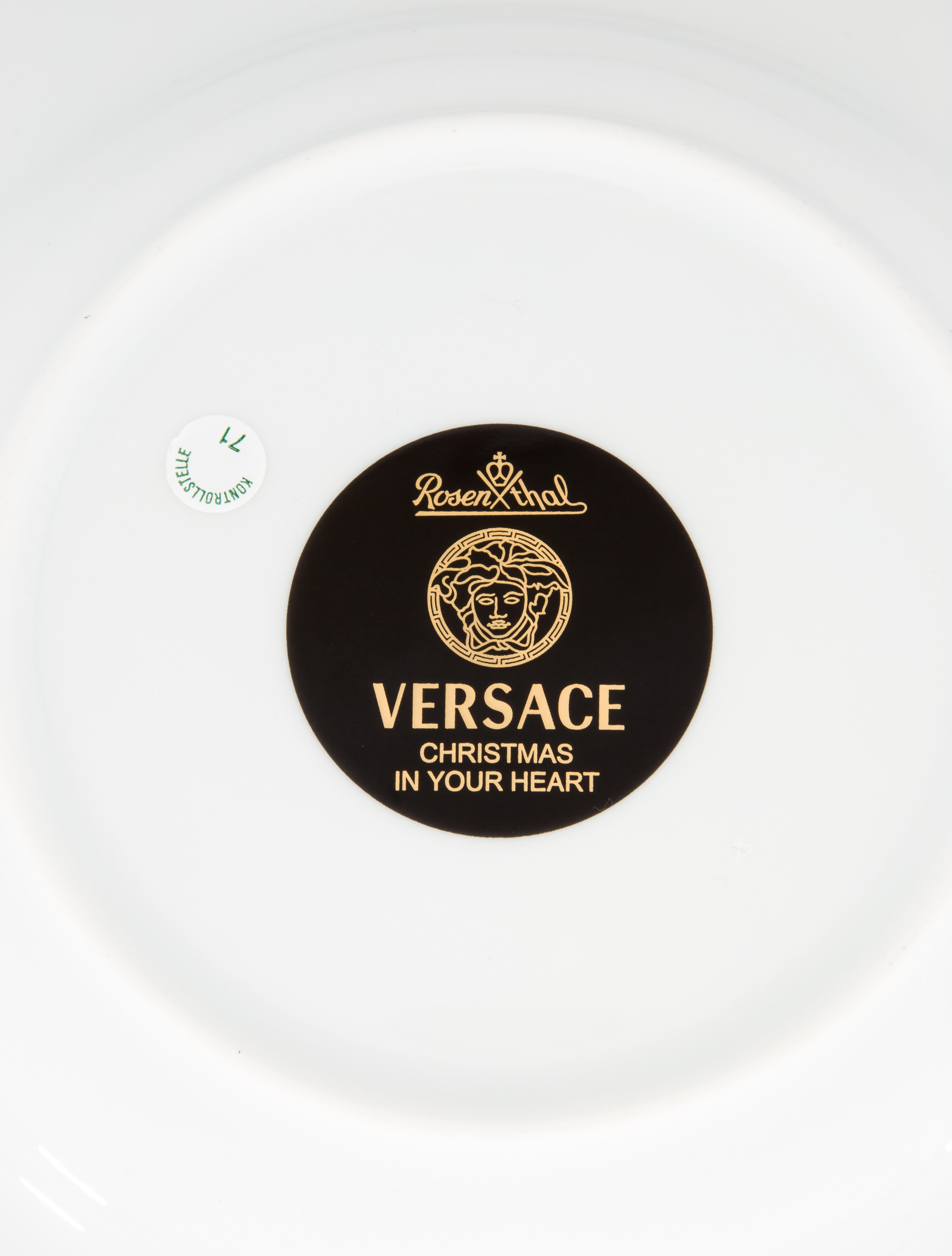 Rosenthal meets versace christmas in your heart soup plate
