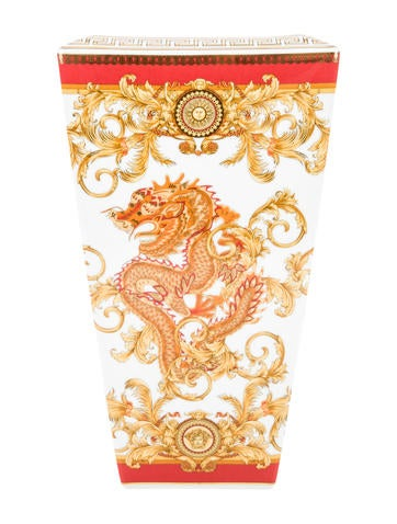 Rosenthal Meets Versace Asian Dream Vase Decor And