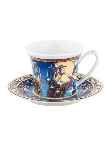 Rosenthal Meets Versace Infinite Dreams Espresso Cup & Saucer None