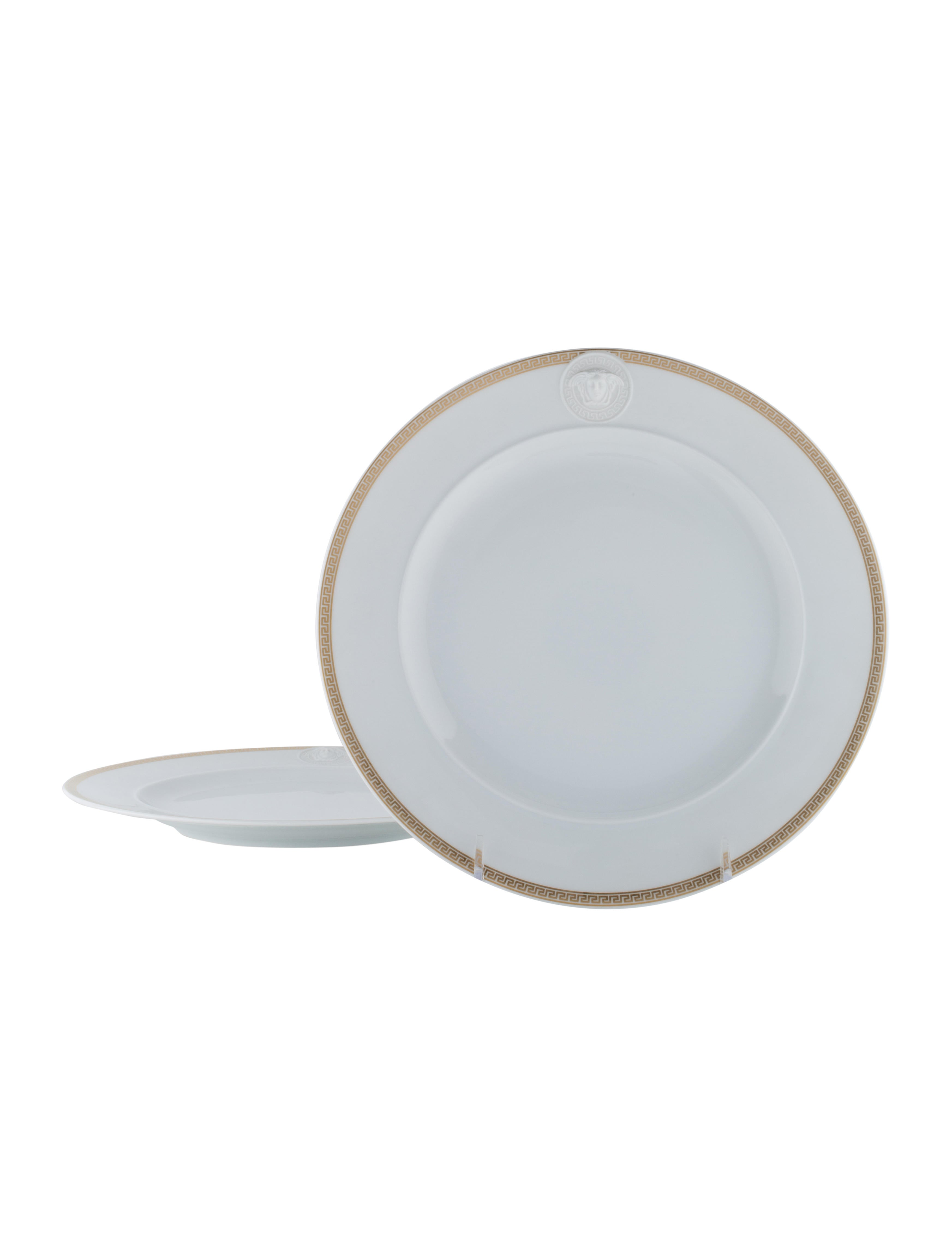 Rosenthal Meets Versace Medallion Meandre d\'On Greca Plates ...