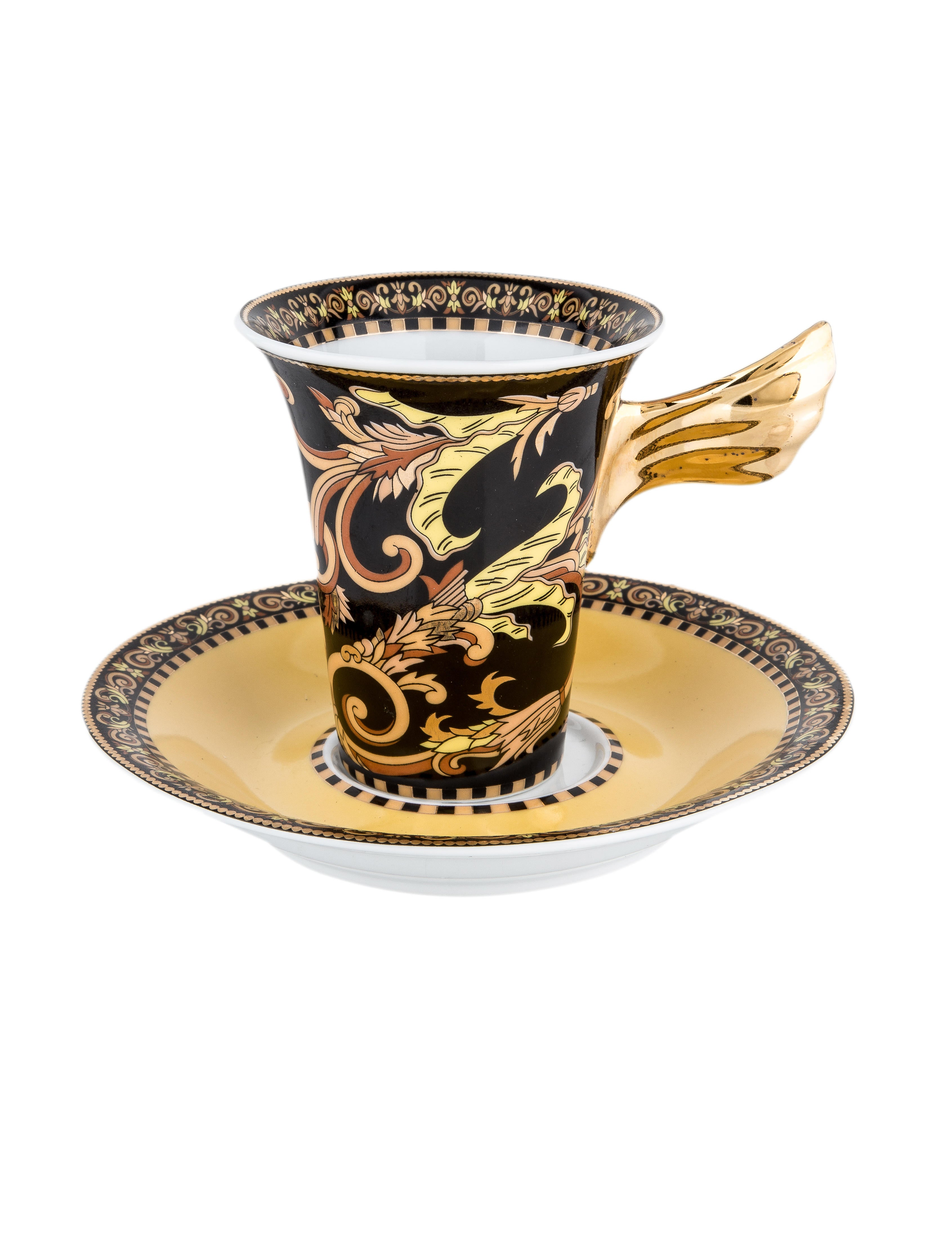 10 Piece Ultimate Brush Collection: Rosenthal Meets Versace 10-Piece Barocco Demitasse Service