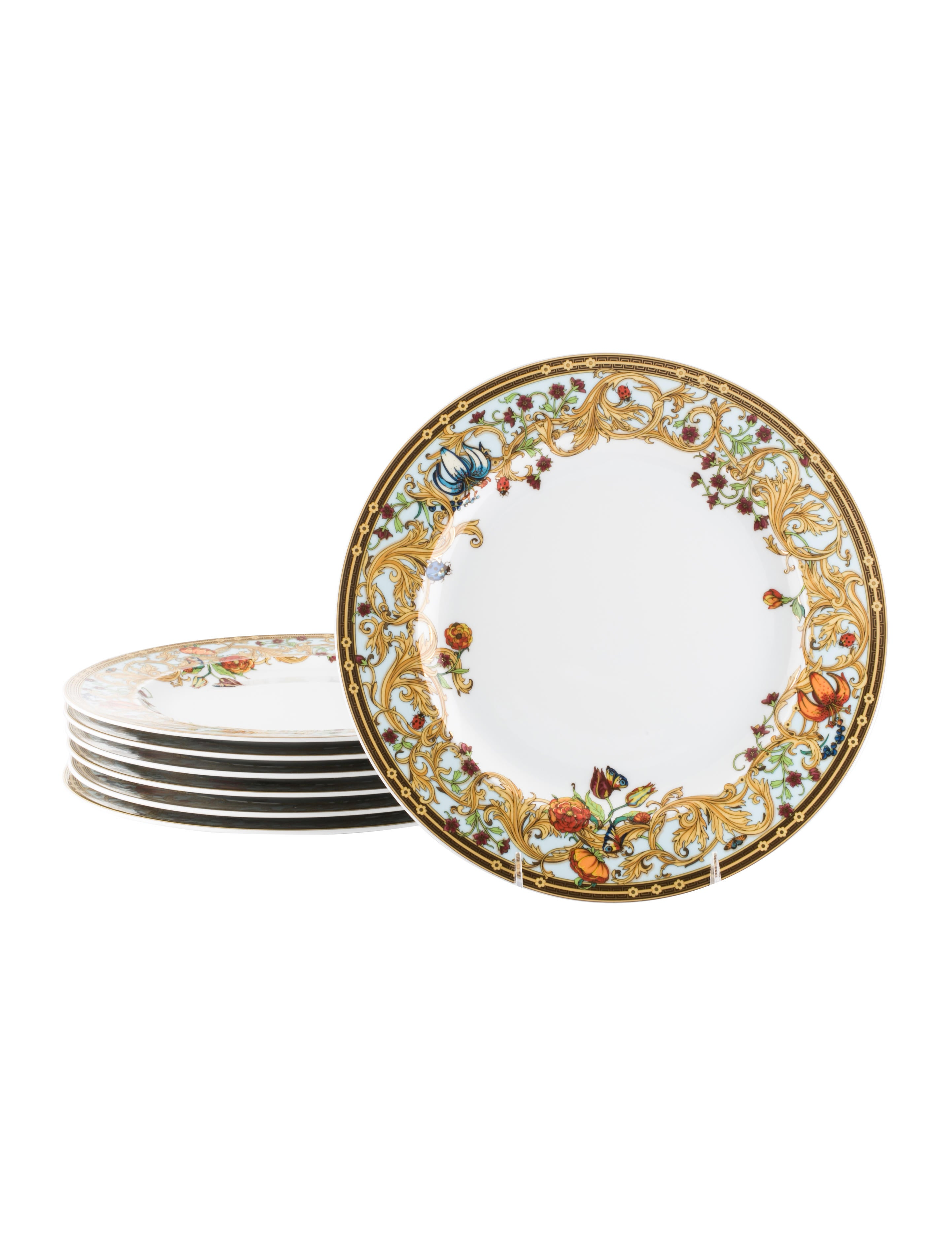 Set of 7 Le Jardin de Versace Dinner Plates  sc 1 st  The RealReal & Rosenthal Meets Versace Set of 7 Le Jardin de Versace Dinner Plates ...