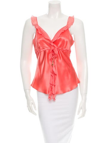 Roberto Cavalli Silk Top None