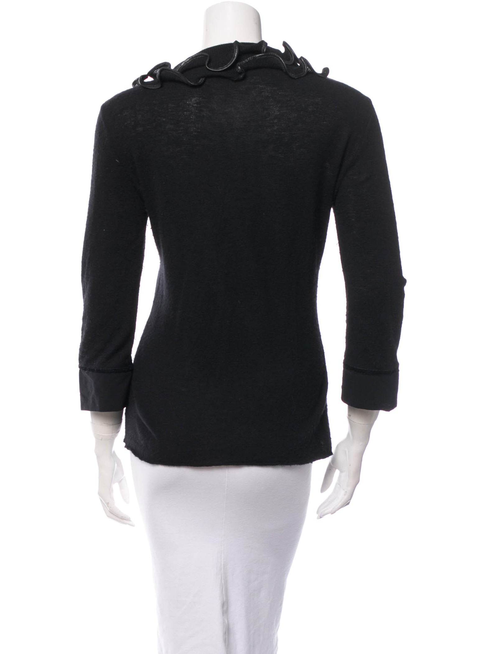 Roberto cavalli wool top clothing rob28385 the realreal for Best wool shirt jackets