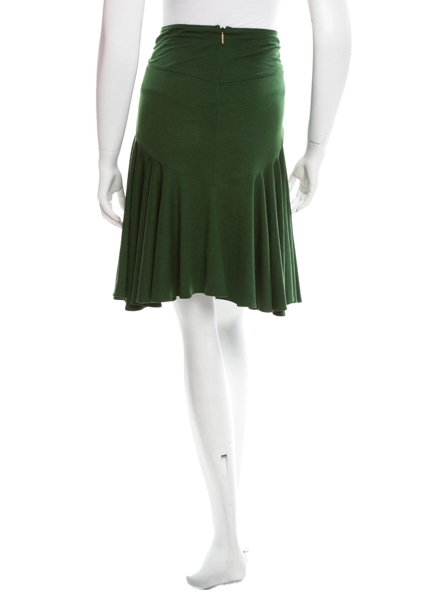 roberto cavalli wool a line skirt clothing rob29899