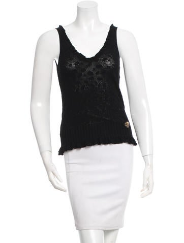 Roberto Cavalli Knit V-Neck Top None