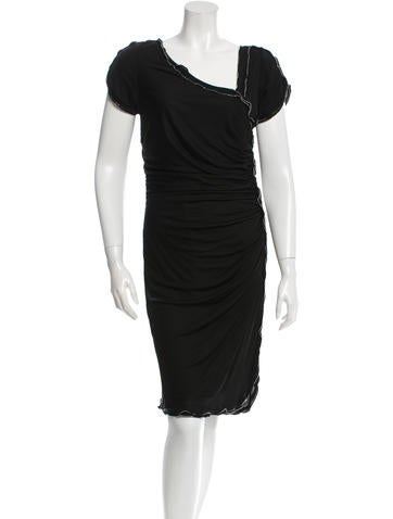 Roberto Cavalli Embellished Draped Dress