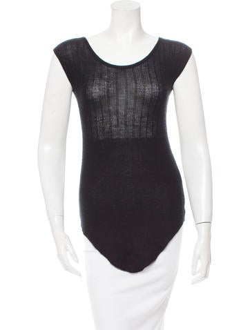 Roberto Cavalli Sleeveless Cashmere Top None