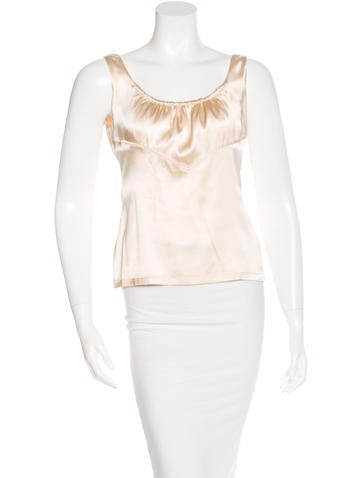 Roberto Cavalli Silk Cropped Top None