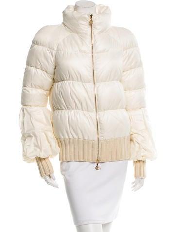 Roberto Cavalli Rib Knit Puffer Coat None