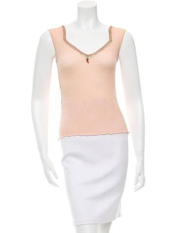 Roberto Cavalli Knit Sleeveless Top None
