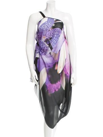 Roberto Cavalli Silk Floral Print Top None