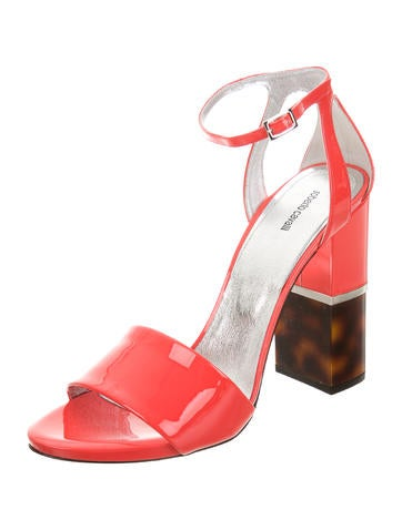 Patent Leather Ankle Strap Sandals w/ Tags