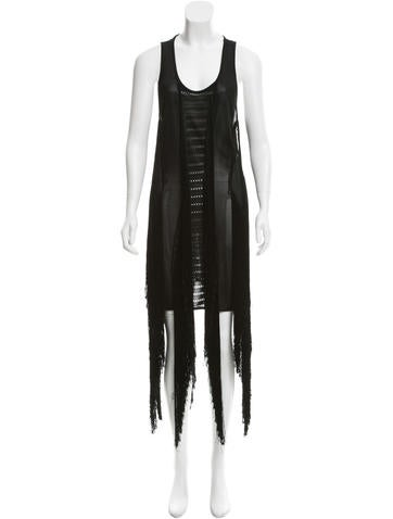 Roberto Cavalli Sleeveless Fringe Dress w/ Tags
