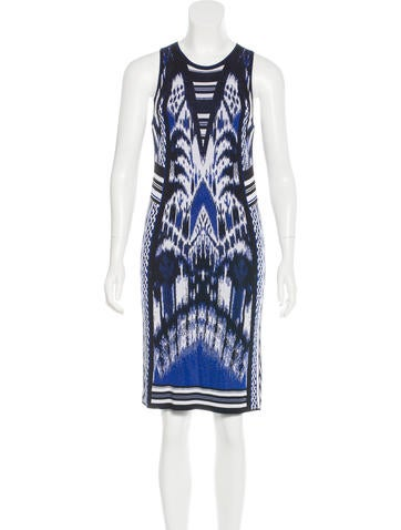 Roberto Cavalli Jacquard Knit Dress None