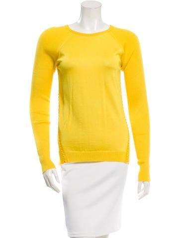 Roberto Cavalli Rib Knit Scoop Neck Sweater None